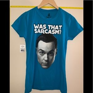 NWT Big Bang Theory Was that Sarcasm Tee